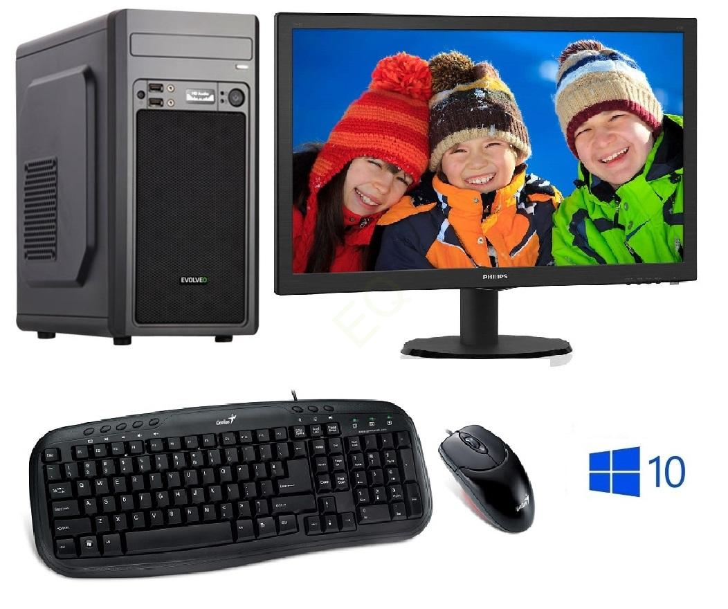 "INTEL Celeron G5905 Dual Core,DDR4 RAM 8GB,HDD 1000GB,INTEL UHD Graphic 610,DVD,22""LCD Philips,WIN10,SET"