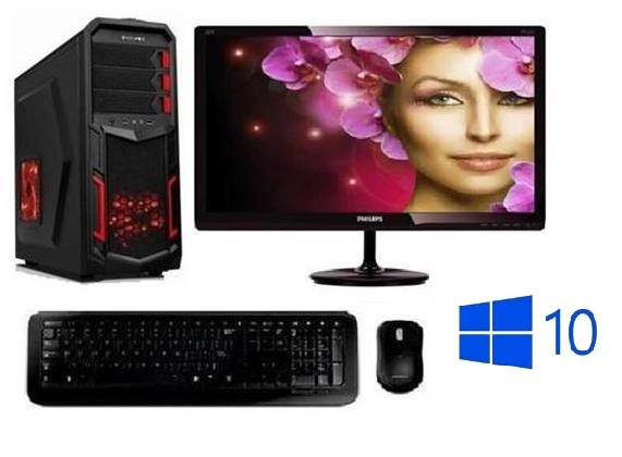 "AMD APU A10-7860 Quad Core,DDR3 RAM 8GB,HDD 1000GB,Radeon RX560 4GB,22""LCD,WIN10"
