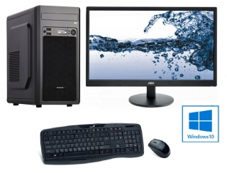 "INTEL Celeron G4930 Dual Core,DDR4 RAM 8GB,HDD 1000GB,INTEL UHD Graphic 610,DVD,22""LCD Philips,WIN10,SET"