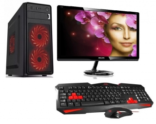 "AMD Athlon X4 840 Quad Core,DDR3 RAM 8GB,SSD 240GB,HDD 1000GB,Radeon R7 240 4GB,DVD,22""LCD Philips,Gaming set"