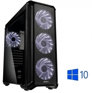 Intel Core i3-9100F Quad Core,DDR4 RAM 8GB,SSD 256GB,HDD 1000GB,Geforce GTX 1050 Ti 4GB,DVD,WIN10
