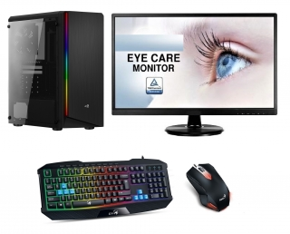 AMD Ryzen 5 1600 Hexa Core,DDR4 RAM 8GB,Geforce GT 730 2GB,SSD 256GB,HDD 1000GB,LCD monitor,Game SET